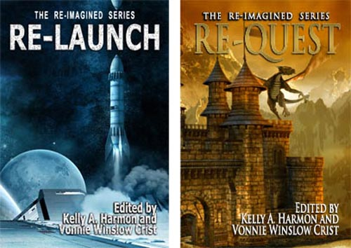 Covers of ReLaunch and ReQuest Anthologies